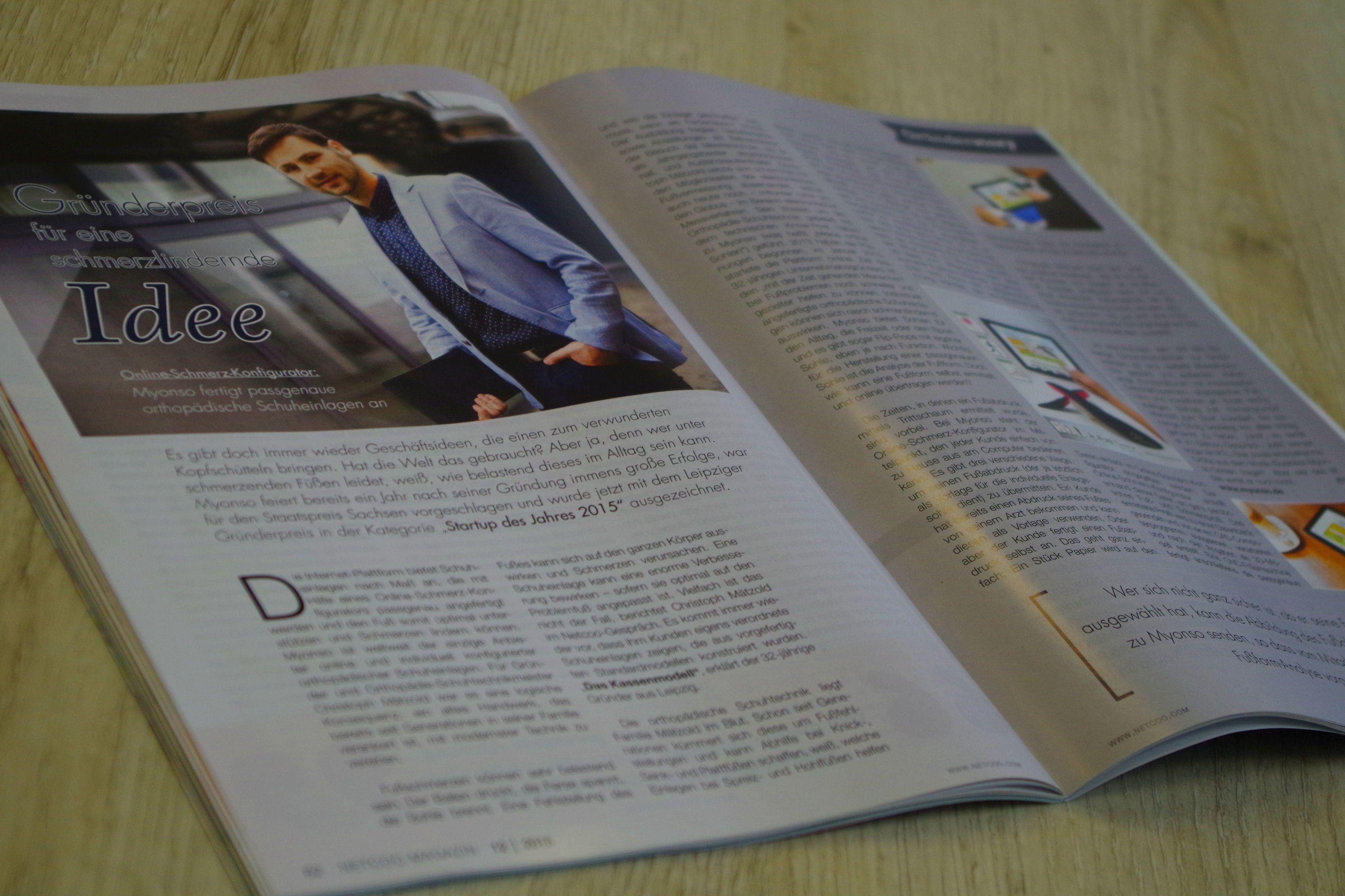 Artikel Netcoo Magazin myonso.de Der Schuheinlagenkonfigurator