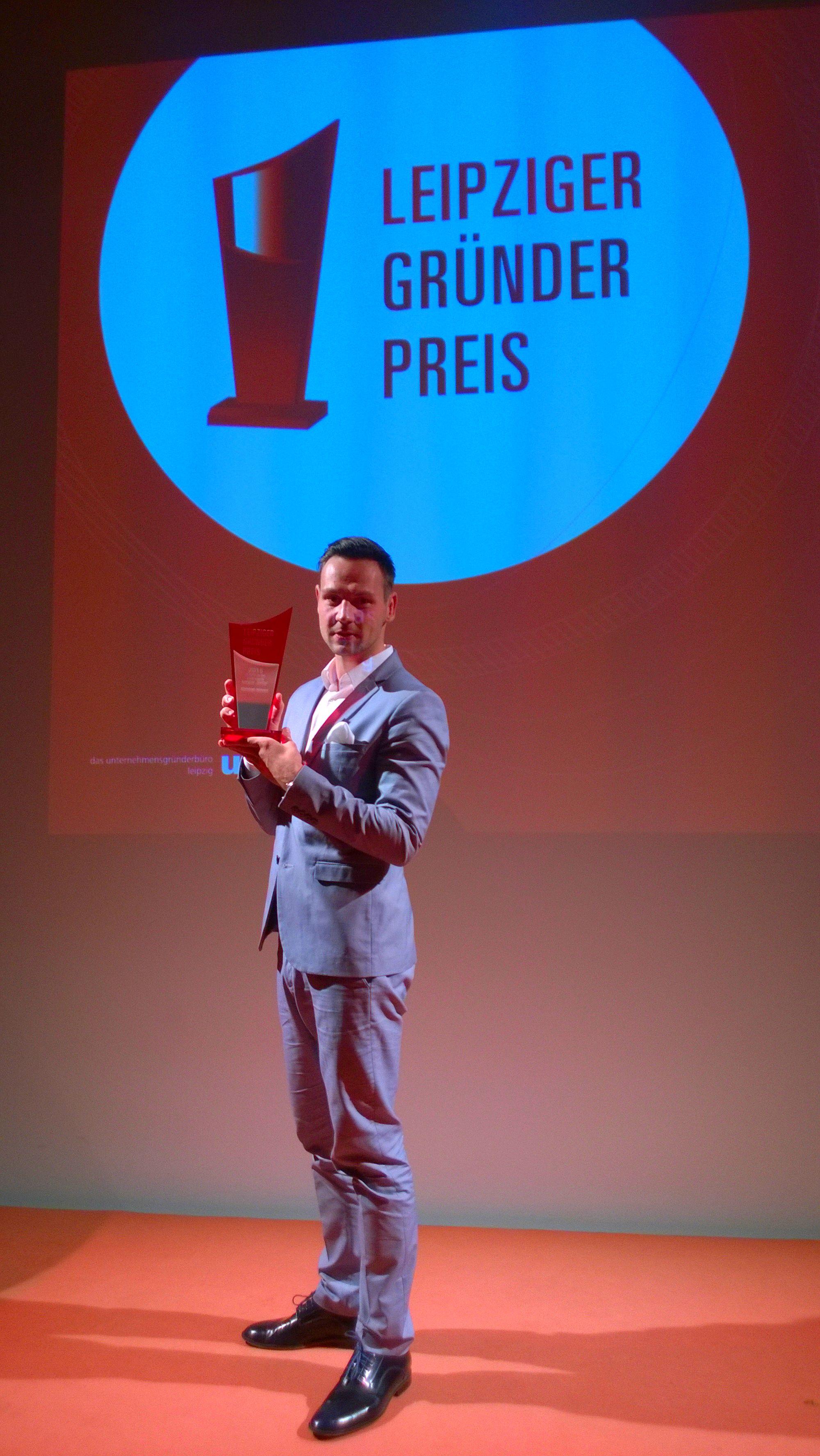 Christoph Mätzold Gründer von myonso bei dem Leipziger Gründerpreis 2015