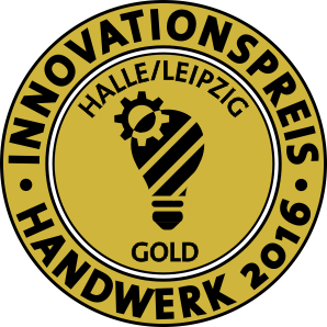 Siegel für den Innovationspreis im Handwerk 2016 in Gold